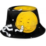 Space Cute Reversible Bucket Hat,Unisex Fisherman Hat Packable Casual Travel Beach Sun Hats One Size B094H1M3R3