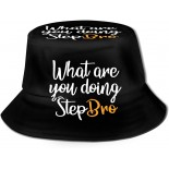 What are You Doing StepBro Fisherman Hats Summer Outdoor Bucket Hat Travel Beach Sun Hat Black  B0995SVWH7