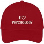 Trendy Apparel Shop I Love Psychology Embroidered Soft Cotton Low Profile Dad Hat Baseball Cap One Size B072QF2MZY