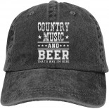 Vintage Trucker Dad Hat Country Music and Beer Mens Womens Baseball Cap Funny Cowboy Hat Black  B08ZJLDXTX