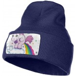 Unisex Beanie Slouchy Beanie for Men Unicorn Pooping Rainbow Over Clouds Knit Hat Wool Beanie Hat Winter Hats One Size B08TMC6816
